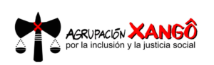 The banner for Agrupación Xangô.