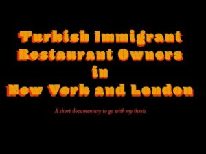 Turkish İmmigrant Restaurant Owners Title Page
