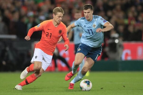 Frenkie de Jong and Paddy McNair