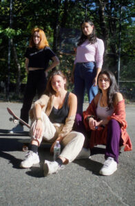 Girl skaters at Tompkins Square Park.