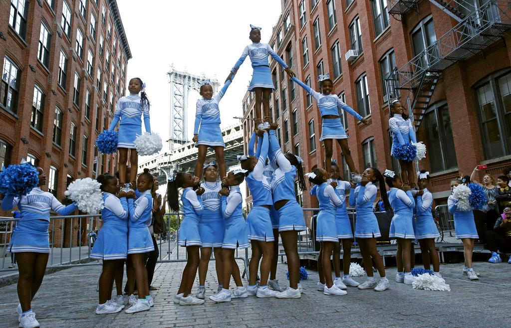 Cheerleaders in DUMBO